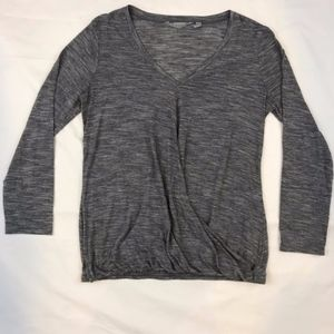 Athleta Gray Siro Twist Top Long Sleeve Size XS